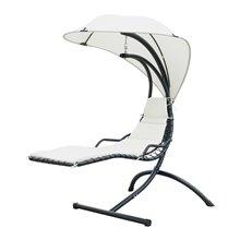 Tumbona sillón colgante con toldo Outsunny