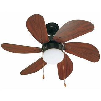 Ventilador marrón con luz PALAO de Faro