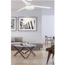 Ventilador blanco con luz VULCANO de Faro