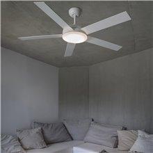Ventilador blanco con luz NOVA de Faro