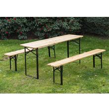 Mesa picnic color madera 180x50x75 Outsunny