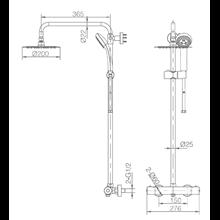 Columna de ducha termostática blanco mate Imex Londres