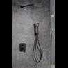 Conjunto de ducha Imex Negro Dublin
