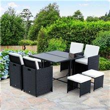 Conjunto de sillas y mesa de 9 piezas Outsunny
