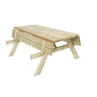 Mesa madera picnic 200x154x74cm Gardiun de bancos abatibles