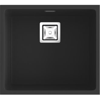 Fregadero de 1 cuba Negro Liso 50 x 45cm Zie Poalgi