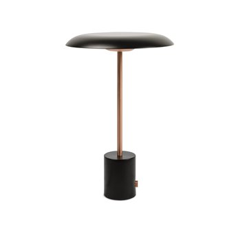 Lámpara sobremesa negro y cobre HOSHI 4W Faro