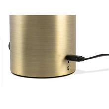 Lámpara sobremesa negro y oro satinado HOSHI 4W