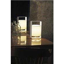 Lámpara sobremesa pequeña blanca LULA-P 20W Faro