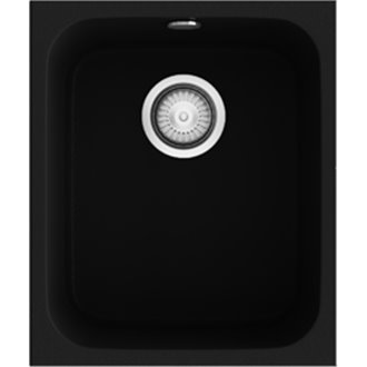 Fregadero de 1 cuba Negro Poalgi 38 x 44,5cm