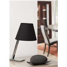 Lámpara sobremesa negra MOMA 60W Faro