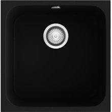 Fregadero de 1 cuba Negro Liso 44 x 44,5cm Gandia Poalgi