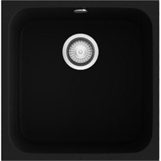 Fregadero de 1 cuba Negro Liso 44 x 44,50cm Gandia Poalgi