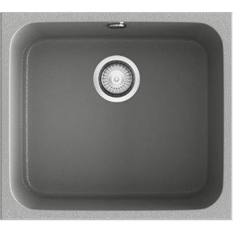 Fregadero de 1 cuba Metalizado 54 x 44,5cm Gandia Poalgi