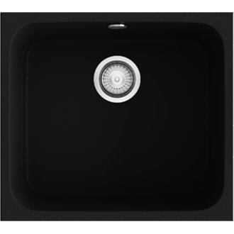 Fregadero de 1 cuba Negro Liso 54 x 44,50cm Gandia Poalgi