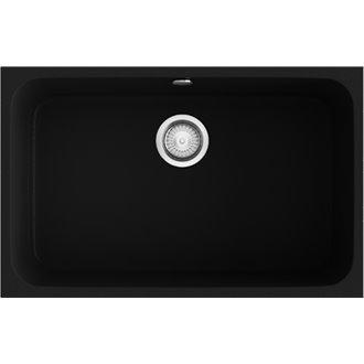 Fregadero de 1 cuba Negro Liso 74 x 44,5cm Gandia Poalgi