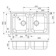 Fregadero Centurio L20 rectangular Galindo