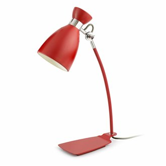 Lámpara sobremesa roja RETRO 20W Faro