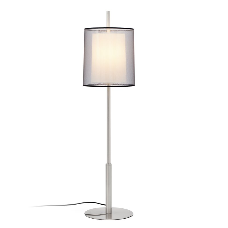 Lámpara sobremesa níquel mate alta SABA 40W Faro