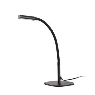 Lámpara sobremesa negra SERP 4W Faro