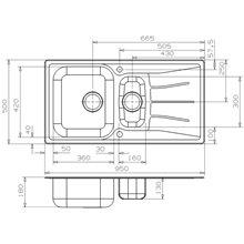 Fregadero Diplomat 1.5 LUX doble seno y escurridor Galindo