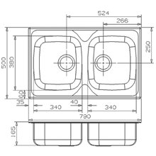 Fregadero REX 20 rectangular Galindo