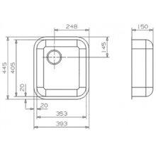 Fregadero Especial L18 4035 cuadrado Galindo
