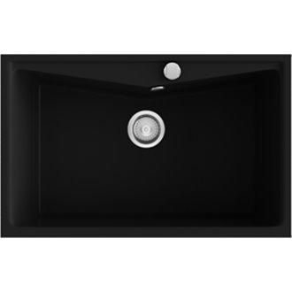 Fregadero de 1 cuba Negro Liso 81 x 51cm Kuma Poalgi