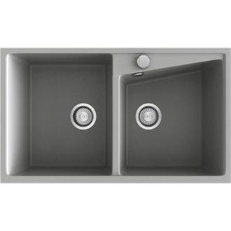 Fregadero de 2 cubas Metalizado 86 x 51cm Kuma Poalgi