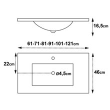Lavabo encimera Surface 46 Tegler