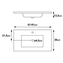 Lavabo encimera Surface 37,5 Tegler