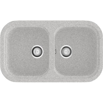 Fregadero de 2 cubas Metalizado 81 x 48,50cm Esmeralda Basic Poalgi
