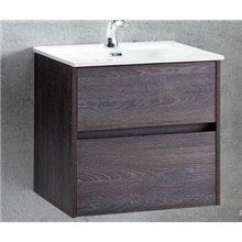 Pack mueble con 2 cajones lavabo encastrado y espejo DECO LINE Sanchis