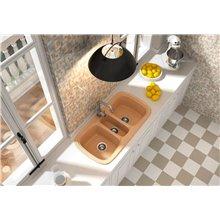 Fregadero de 3 cubas Blanco 97,5 x 50,5cm Onice Basic Poalgi