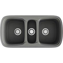 Fregadero de 3 cubas Concret 97,5 x 50,5cm Onice Basic Poalgi