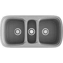 Fregadero de 3 cubas Metalizado 97,5 x 50,5cm Onice Basic Poalgi
