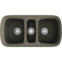 Fregadero de 3 cubas Tundra 97,5 x 50,5cm Onice Basic Poalgi