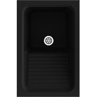 Fregadero de 1 cuba Negro 40 x 60 cm Silex Basic Poalgi