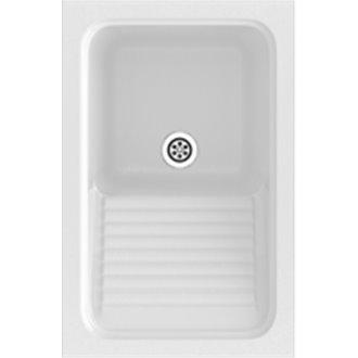 Fregadero de 1 cuba Blanco 40 x 60 cm Silex Basic Poalgi
