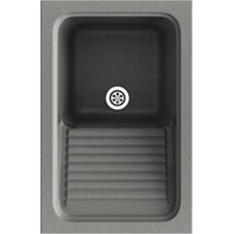 Fregadero de 1 cuba Concret 40 x 60 cm Silex Basic Poalgi