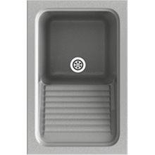 Fregadero de 1 cuba Metalizado 40 x 60 cm Silex Basic Poalgi