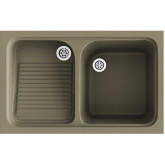 Lavadero de 1 cuba con escurridor Albero  80,2 x 50 cm Cuarzo Basic Poalgi