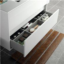 Mueble 100cm Blanco Brillo de 2 cajones NOJA...