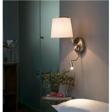 Aplique con lector LED BERNI níquel satinado