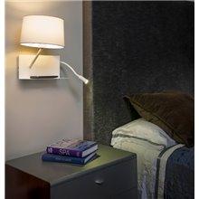 Aplique HANDY blanco con lector LED izquierda Faro