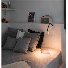 Aplique lector LESER LED níquel satinado Faro