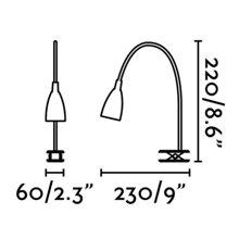 Aplique pinza LOKE-2 LED cromo Faro