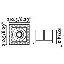 Empotrable orientable GINGKO-1 sin marco 21x21cm Faro