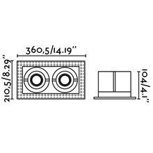 Empotrable orientable GINGKO-2 sin marco 36x21cm Faro