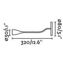 Lámpara empotrable LOKE-3 LED cromo para lectura